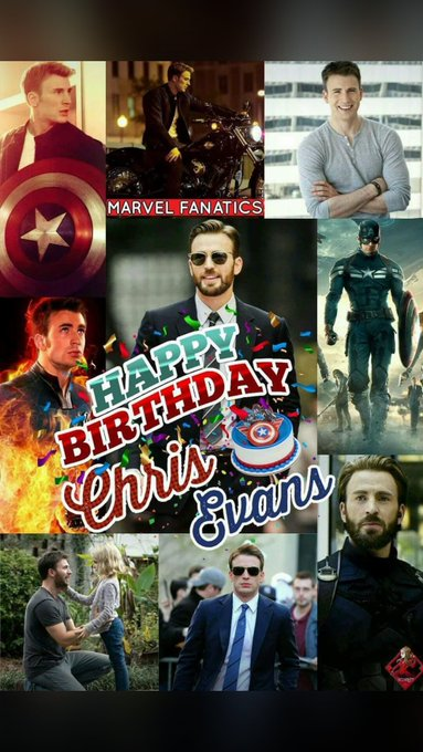 A very very happy birthday Chris Evans Thanks for being the reason to watch Marvel