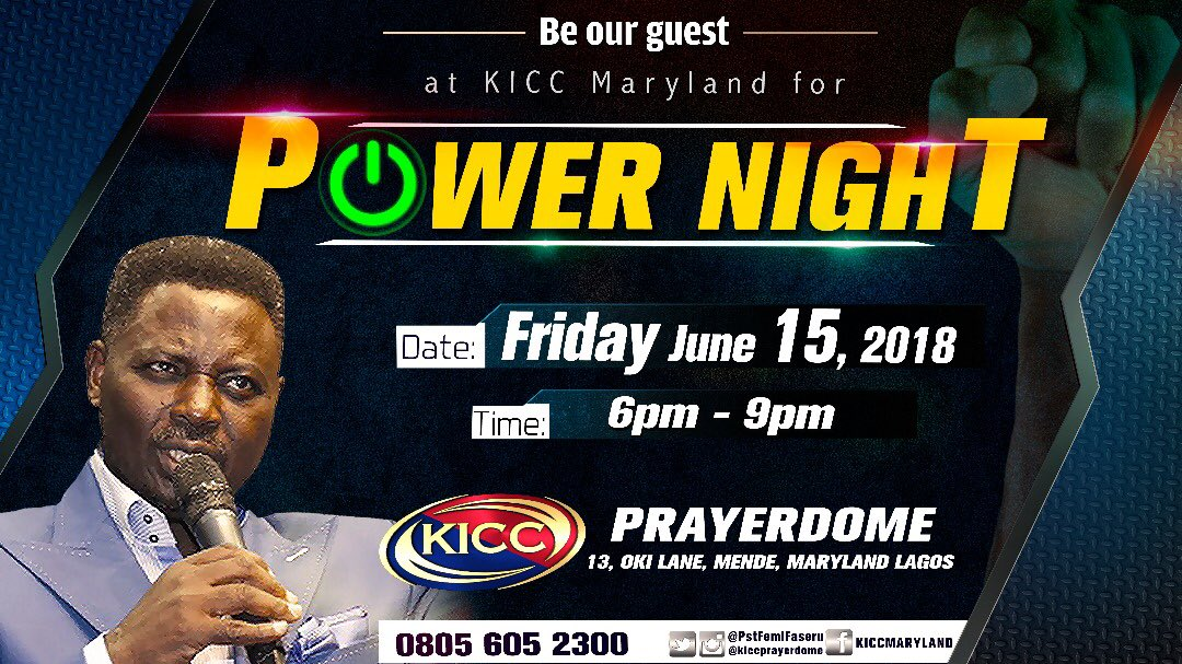 test Twitter Media - RT @_jeremyking: This is not just a service, it's #PowerNight Be my guest this #Friday6pm @KICCPrayerdome https://t.co/P2747vhKbn