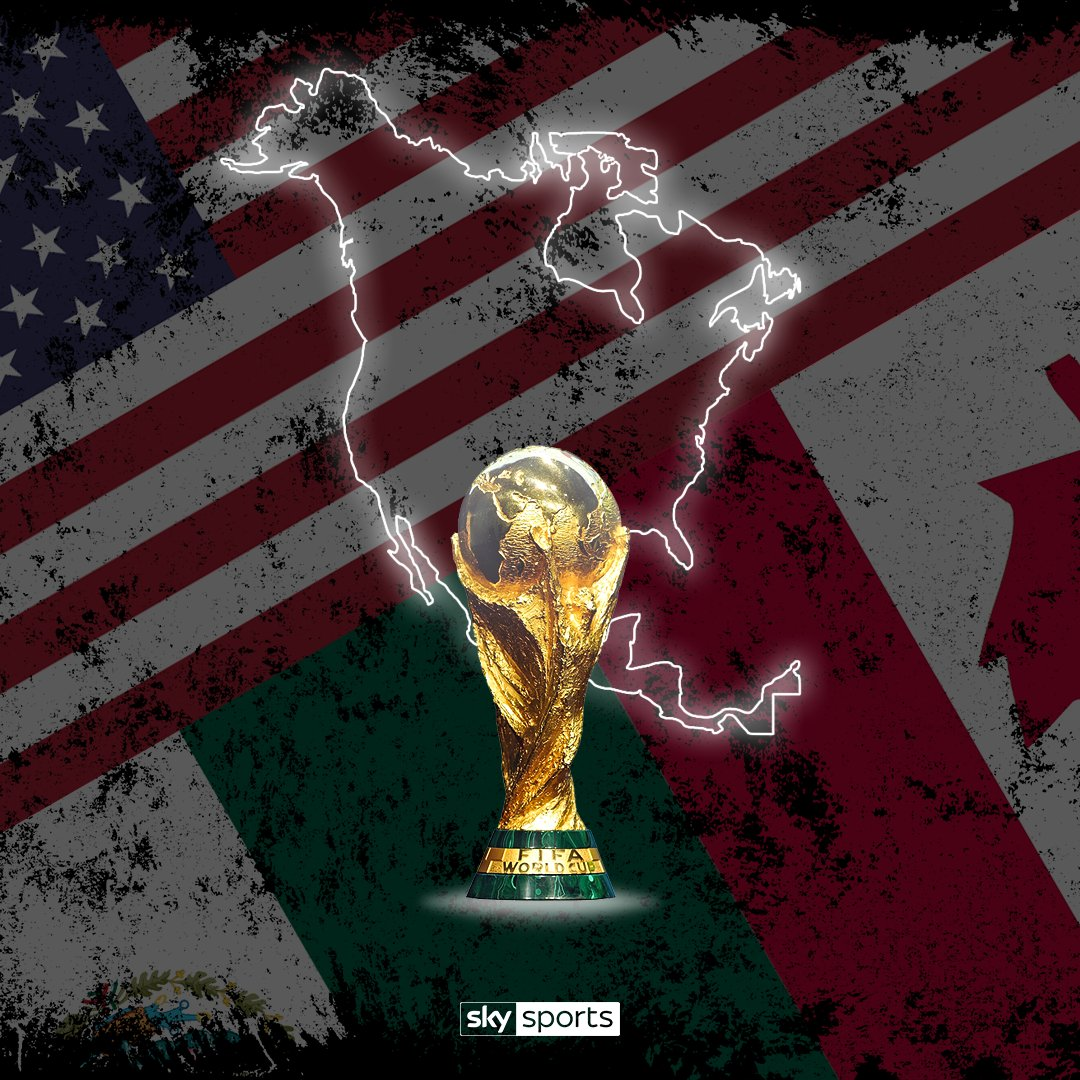 BREAKING: The 2026 @FIFAWorldCup will be hosted in the USA, Mexico and Canada. https://t.co/j34uyFE56U