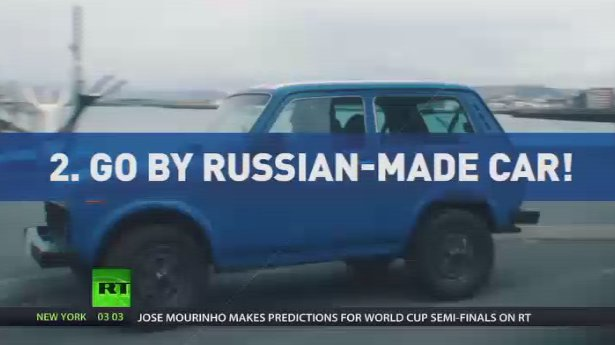 How to get to WorldCup 2018... Iceland fans travel to Moscow by Russian-made car