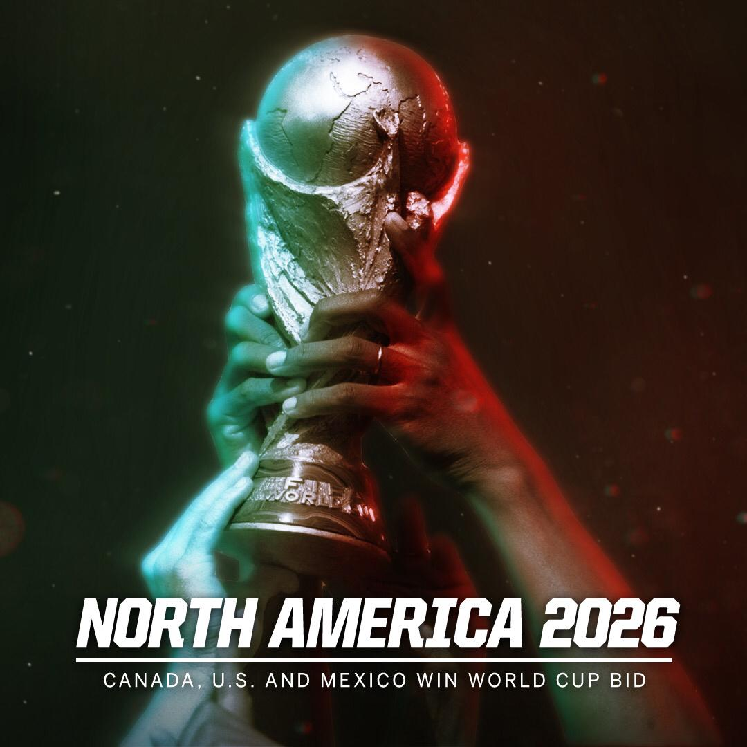 Breaking: The 2026 World Cup is coming to North America. https://t.co/sxz1FycMap https://t.co/fe1Ov4eqED