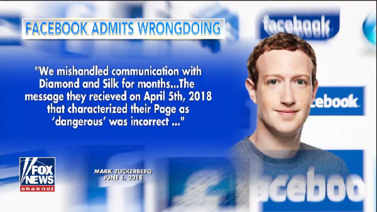 Facebook's Mark Zuckerberg admits the social network was wrong to label Diamond & Silk 'dangerous' https://t.co/UQiBY4eiVa