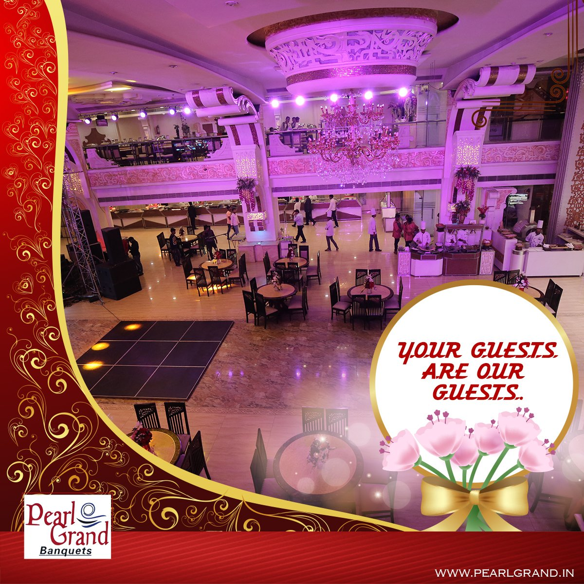 Your guests are our guests. #Weddings #Marriages #Parties #PearlGrandBanquets #PearlGrand https://t.co/fOyNtYObYL