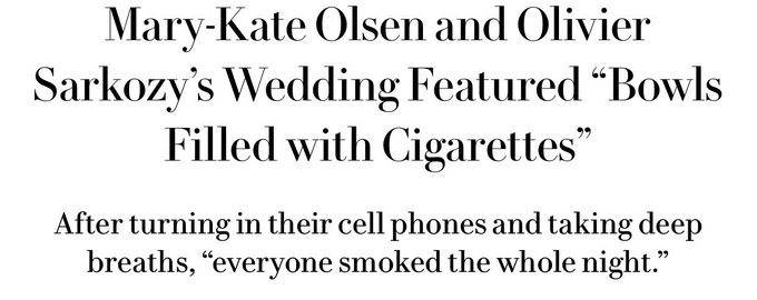 Some of my favourite Mary Kate and Ashley Olsen headlines. Happy birthday MKA, you chic bastards.