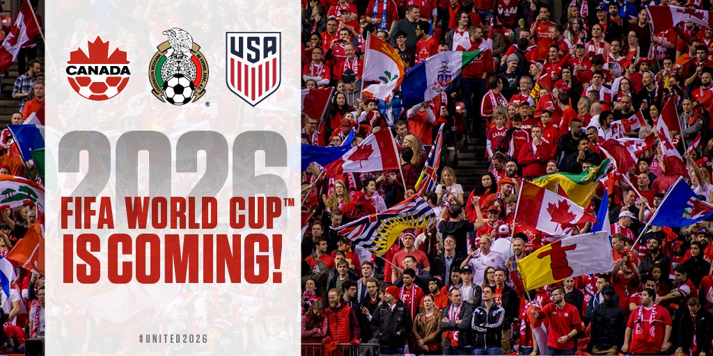 test Twitter Media - The 2026 @FIFAWorldCup is coming to North America! Congratulations to @CanadaSoccerEN for working hard to make this happen – we can't wait! ⚽️#United2026 https://t.co/hUo5BElbsD