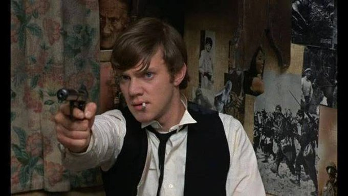 Happy 75th birthday to Malcolm McDowell. Photo from If...., 1968.