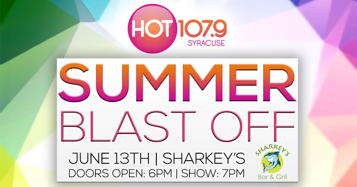 I can't wait to perform at @hot1079syracuse Summer Blast Off tonight!! https://t.co/V8LaLCnDng https://t.co/QOnkVU6orY