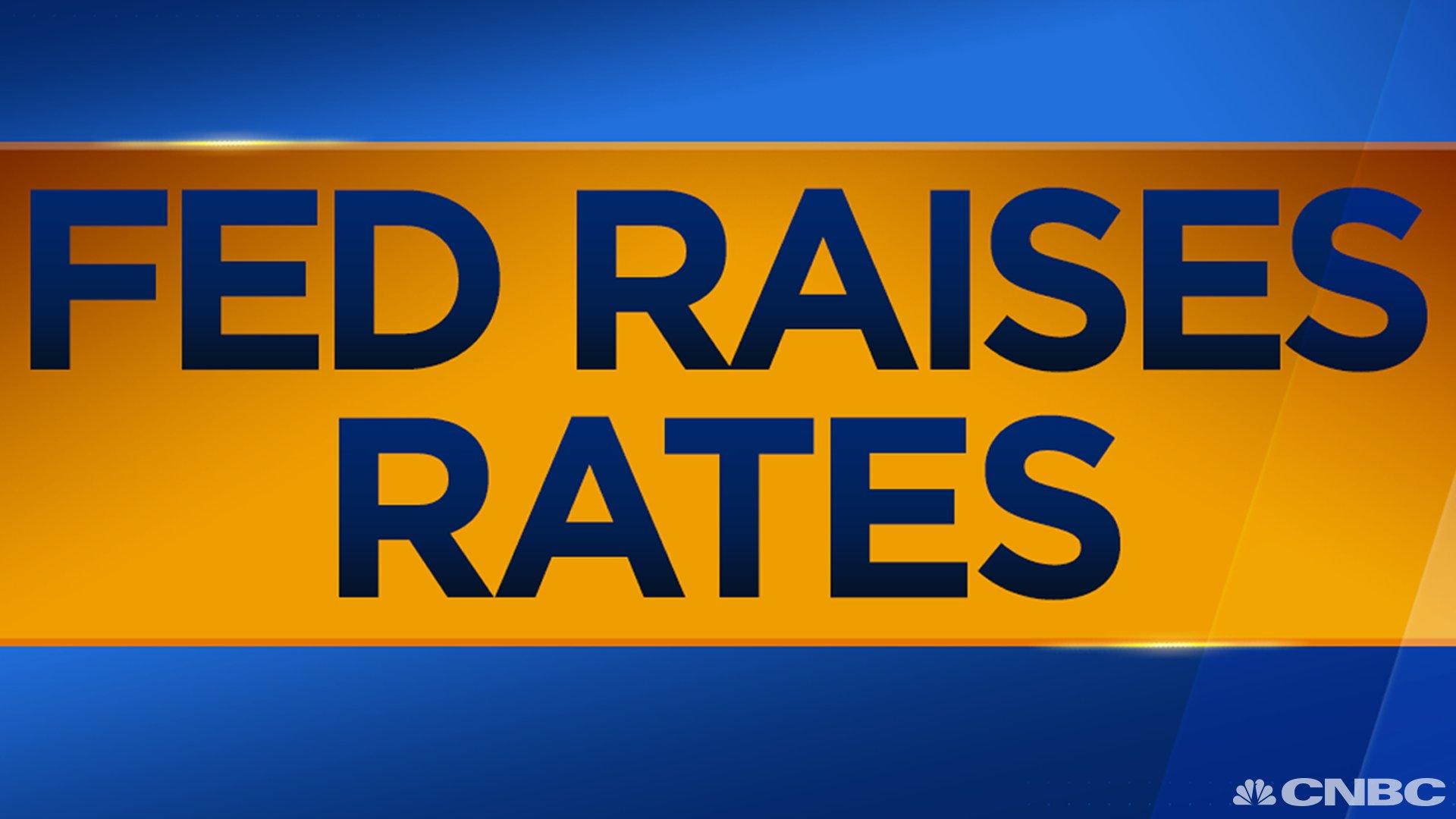 BREAKING: Federal Reserve raises rates  https://t.co/PU1jg9b176 https://t.co/icApxTHXyx