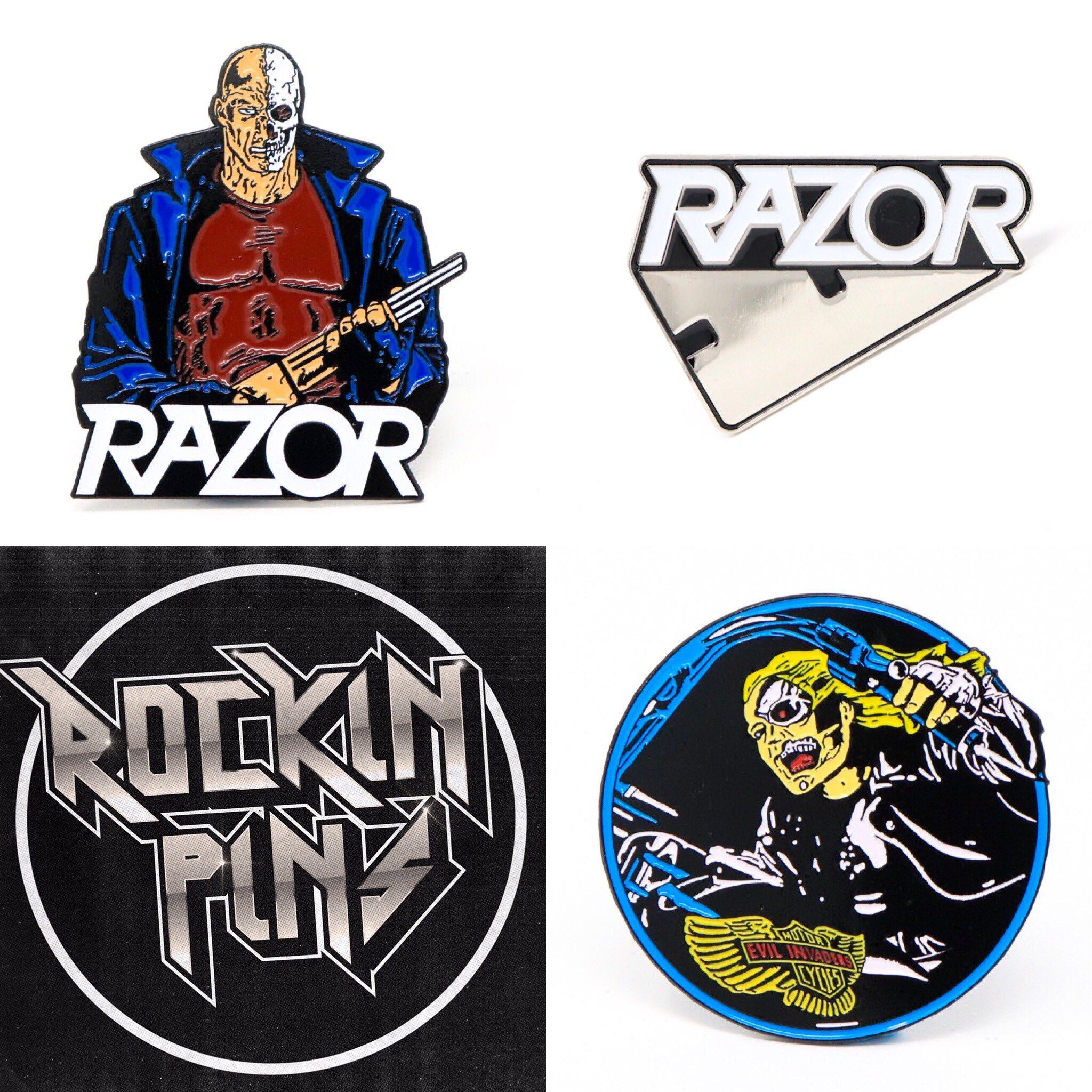Officially licensed 'Razor' enamel pins now available at https://t.co/QxRdbtwwby ! @davecarlorazor https://t.co/XASPBBw3dG