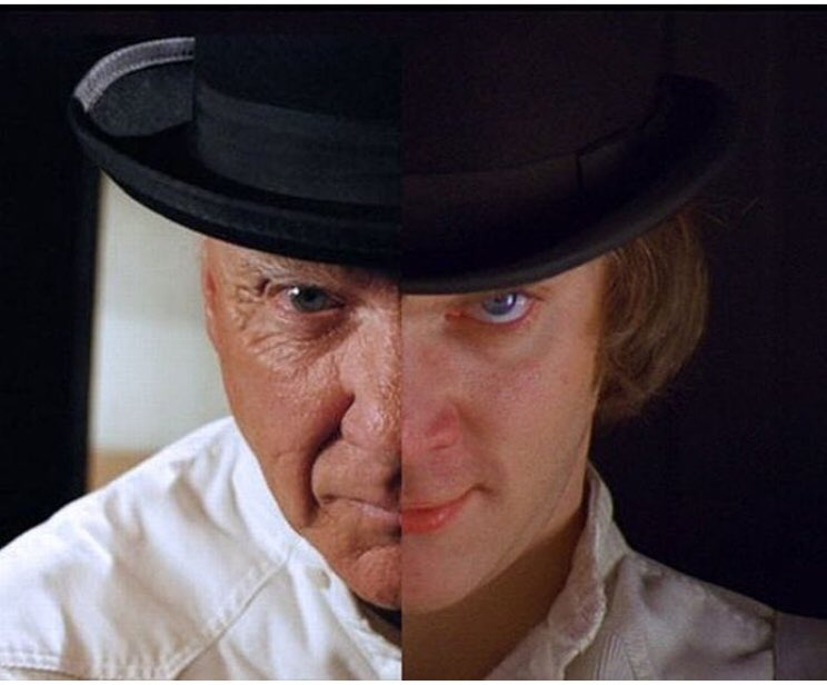 Happy birthday Malcolm McDowell//Alex D large