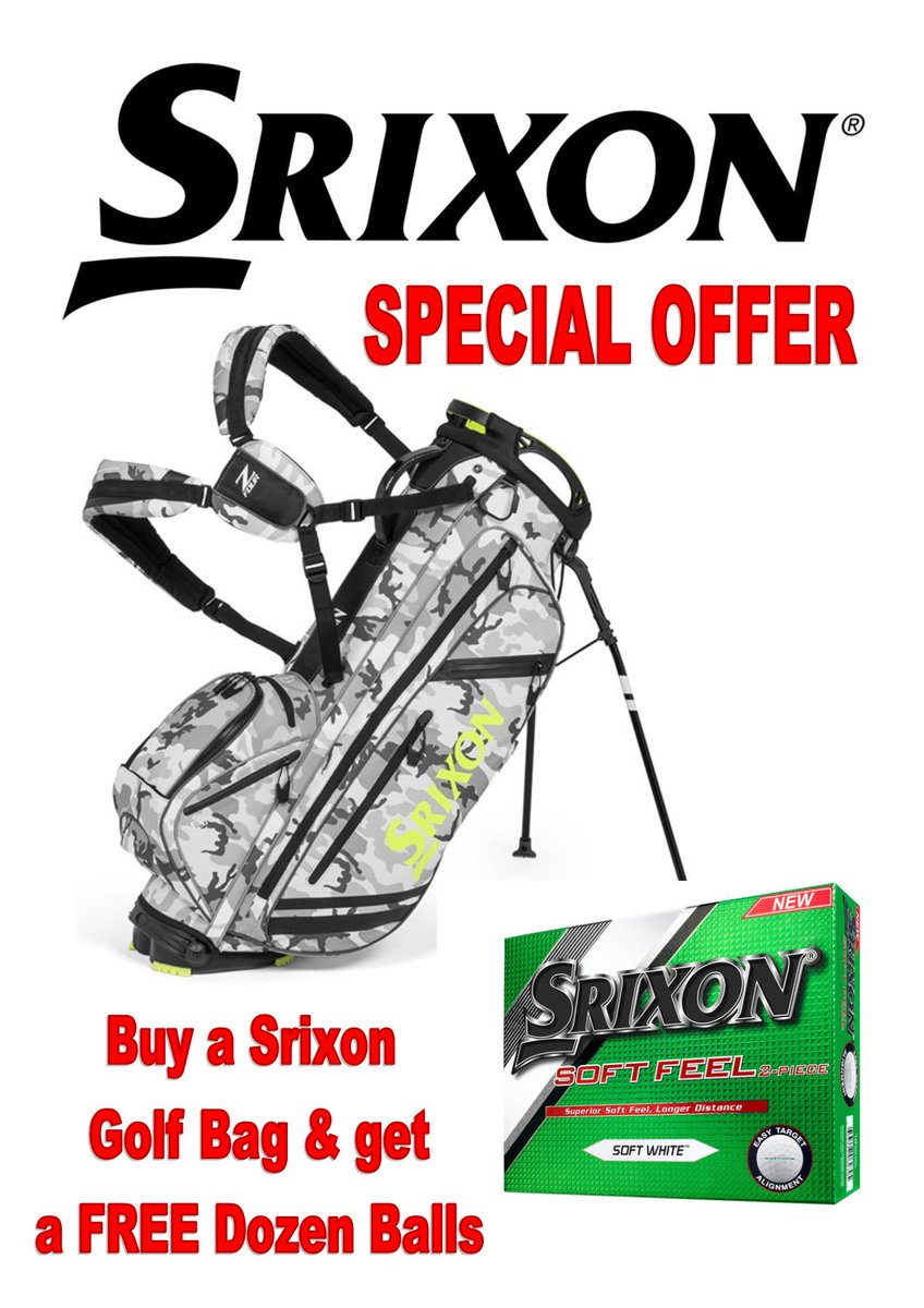 test Twitter Media - Buy any @SrixonGolf Bag and receive a FREE dozen @Srixon Soft Feel #Golf Balls. Limited Offer, So hurry!!! (Balls worth £21.99)  For more great deals visit https://t.co/sjYK8ua007  or call 01446 781781 (opt. 1) https://t.co/Zu4c9c6T3k