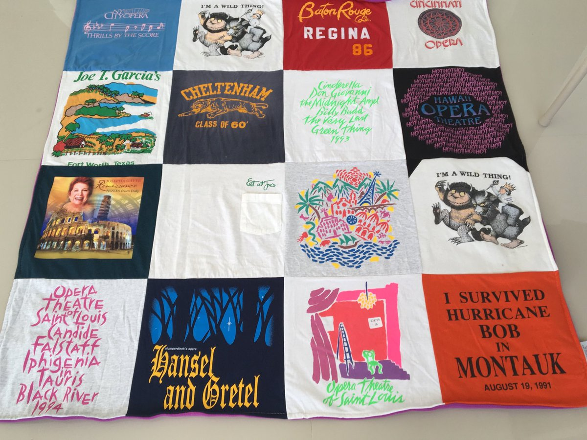 test Twitter Media - I took old tee shirts and sweatshirts that I didn't want to toss out, and sent them to ProjectRePat and they made me a quilt!! I LOVE IT!! https://t.co/gnIK12eACf
