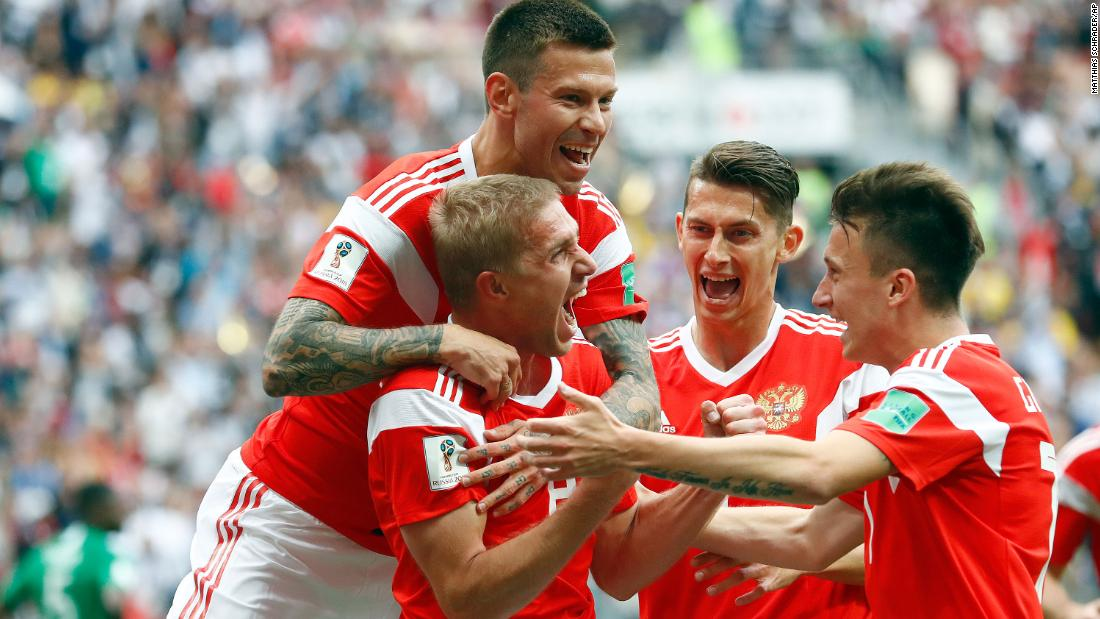 Host nation Russia defeats Saudi Arabia 5-0 in the opening game of the 2018 FIFA World Cup https://t.co/sPdKCoRFdf https://t.co/WEIF5vOpWs
