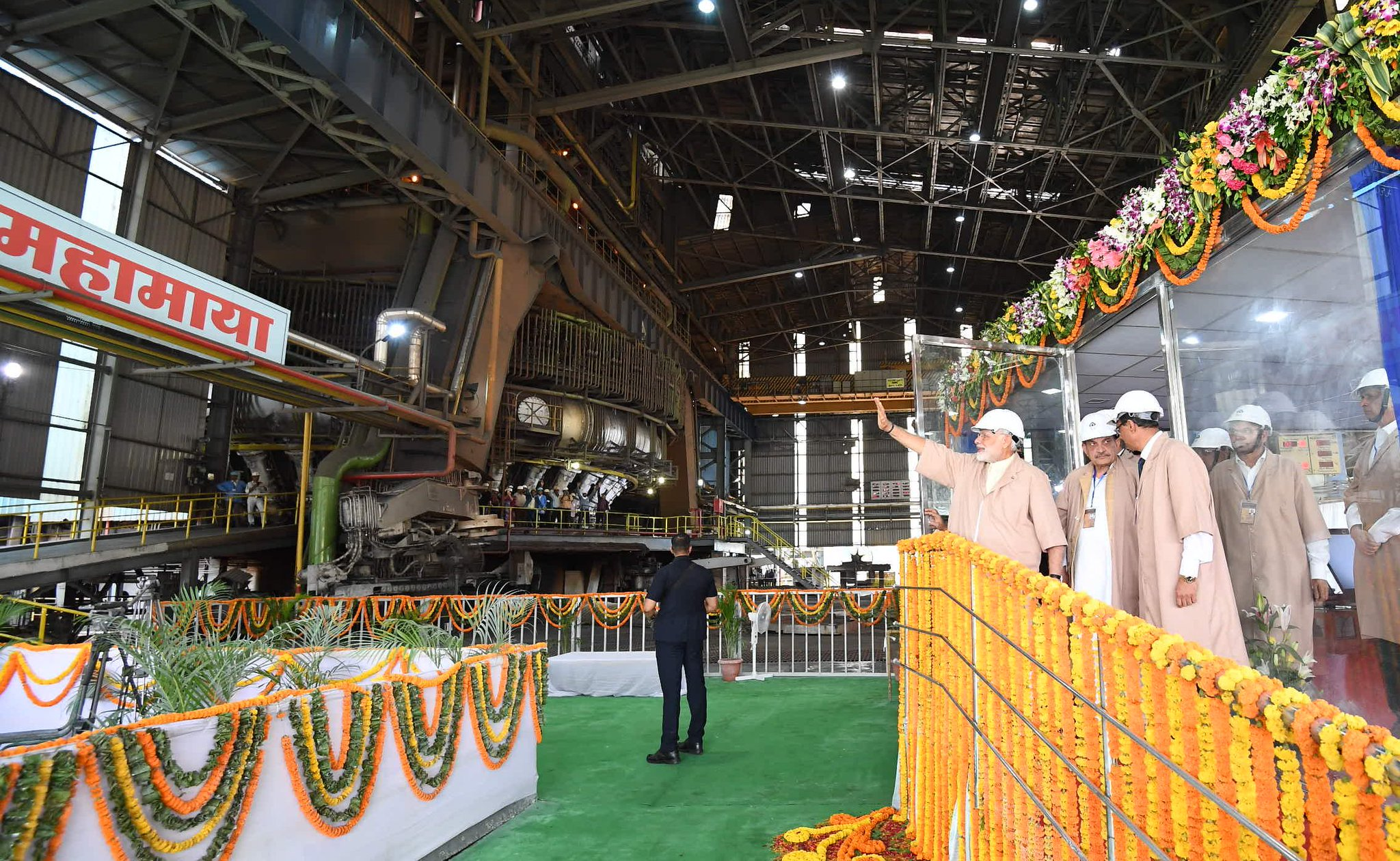 Visited the Bhilai Steel Plant earlier today. https://t.co/Y4tA8gHuXK