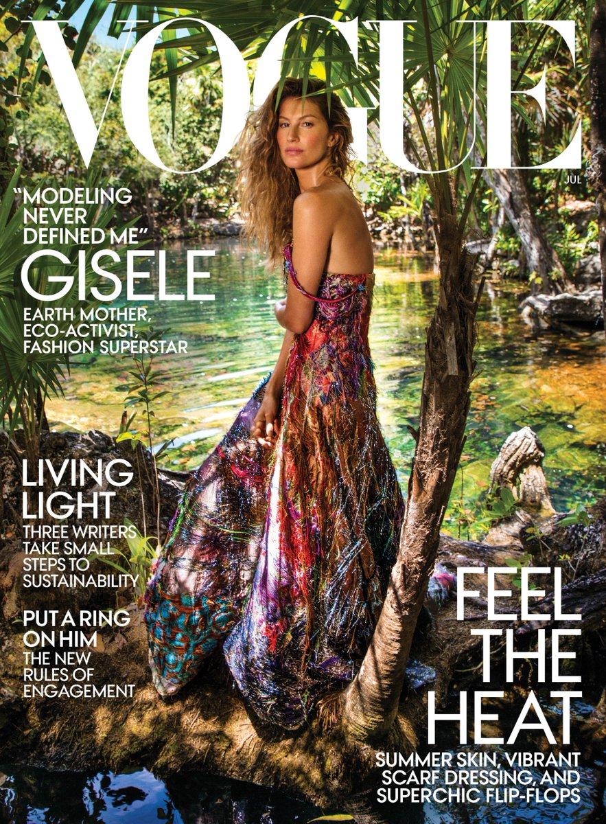 Gisele Bündchen in a Ralph Lauren 50th Anniversary Collection gown on the July cover of @VogueMagazine. #RL50 https://t.co/kZkMTGljKA
