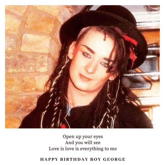 Happy Birthday, Boy George!  :)