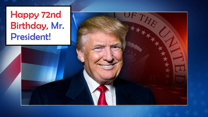 We\d like to wish a VERY happy birthday to President Donald Trump!