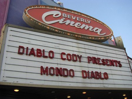 Happy birthday, Diablo Cody! Marquee pic from her programming series at the Bev in 2008.