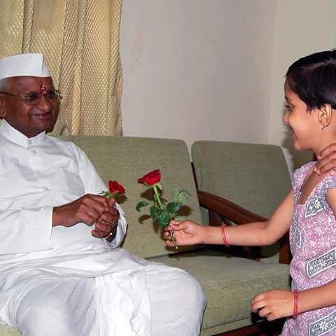 Happy birthday Anna hazare ji
