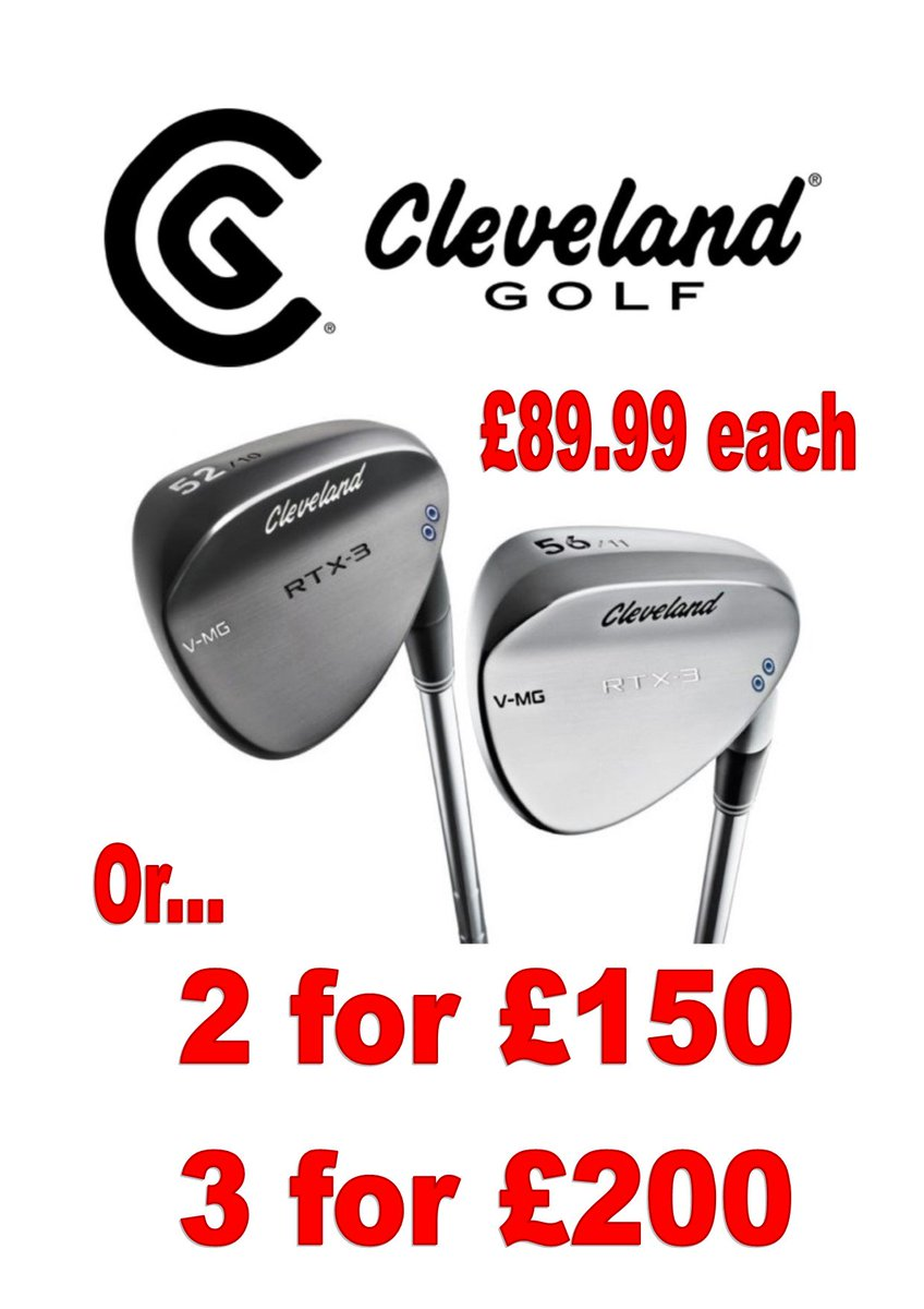 test Twitter Media - @ClevelandGolf RTX Wedge Offer  The NEW Cleveland Golf RTX-3 Wedge just £89.99!  But it gets better...  Buy 2 for £150 (£75 each)  Or 3 for £200 (£66.67 each)  Hurry... Limited stock available.  For more fantastic offers - visit https://t.co/sjYK8ua007 or call us on 01446 781781. https://t.co/ZnVEhPpiiE
