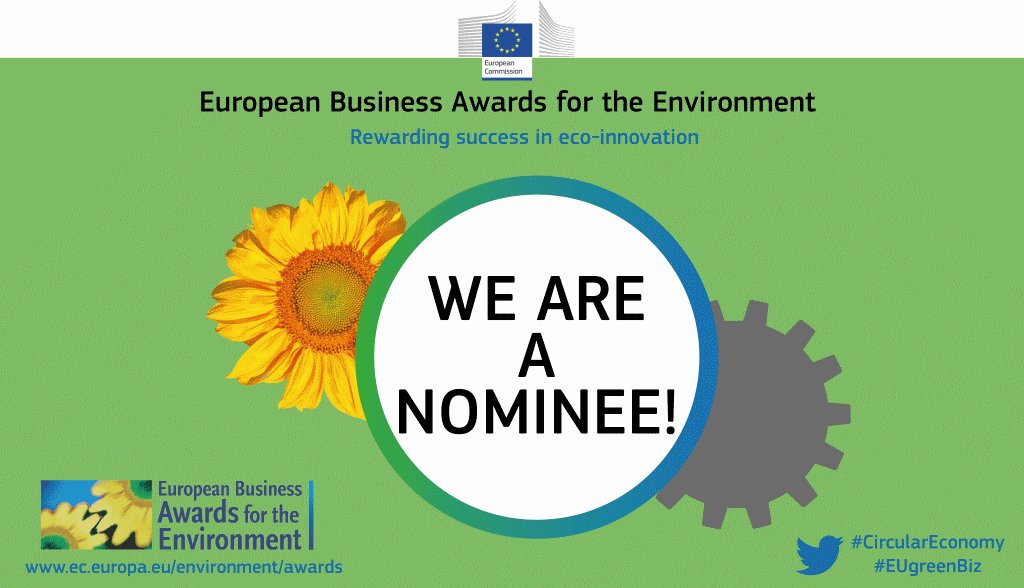 Waga Energy is  thrilled  be  part  of  the  #EUGreenBiz  lot  of  nominees  for  the  EBAE  2018-2019  competition!  Hoping  to  make  it  to  the  final  shortlist  and  to  the  Award  Ceremony  in  #Vienna,  Austria.  #circulareconomy   @EU_ENV @KarmenuVella @Min_Ecologie https://t.co/GnSQelItkT