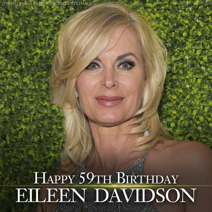 Happy Birthday to soap opera and reality TV star Eileen Davidson.  She turns 59 today.