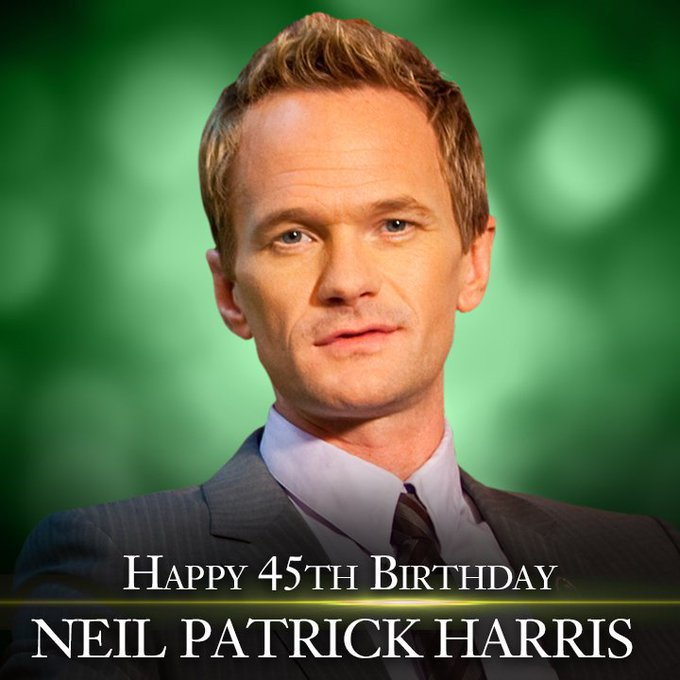 Happy 45th Birthday to actor Neil Patrick Harris!