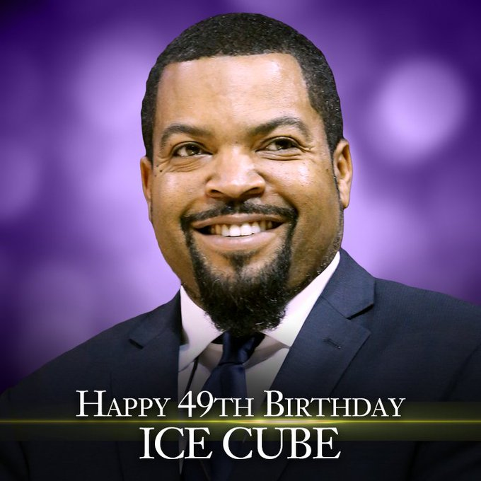 Happy Birthday to Ice Cube. He\s 49 years old today.