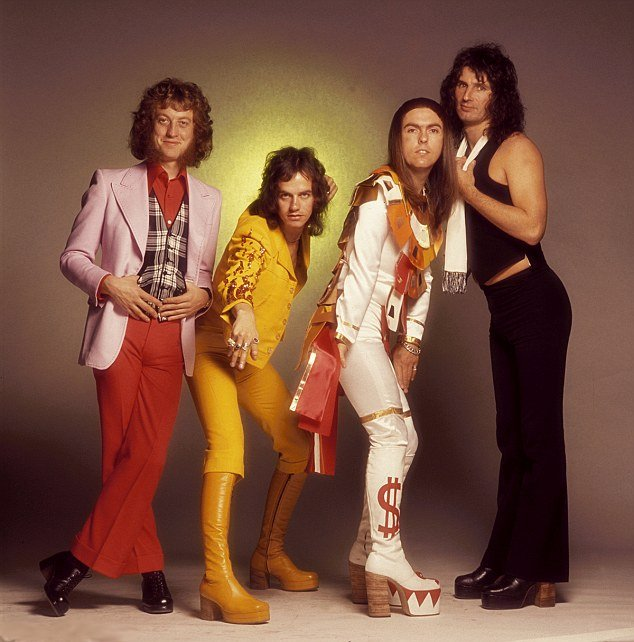 Happy birthday to Noddy Holder. Slade, 1976.
