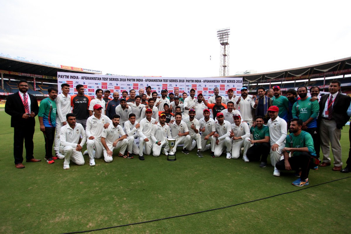 That's all we've got from Bengaluru. Until next time @ACBofficials #TeamIndia #INDvAFG #TheHistoricFirst @Paytm https://t.co/IbN6gBdBzj