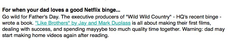LIKE BROTHERS by @jayduplass & @MarkDuplass is this week's @theskimm pick! 💥💥💥 https://t.co/b0rLmNXTje