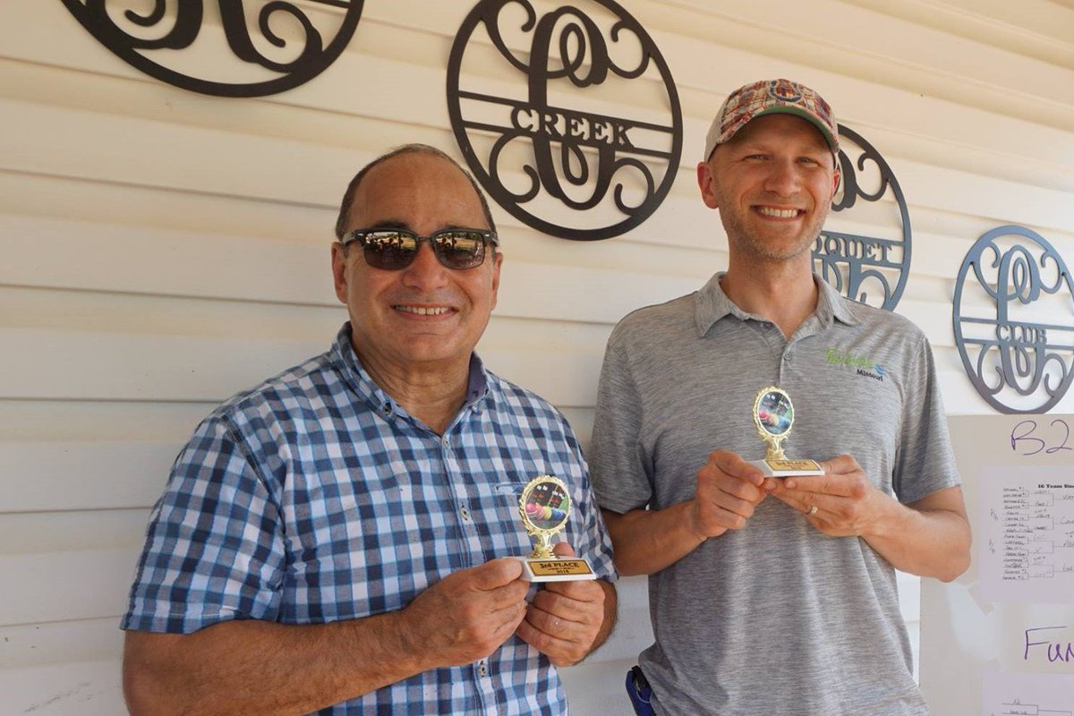 test Twitter Media - .@parkvillemo City Administrator Joe Parente and EDC Exec. Dir. Nathan BeVelle won 3rd place in the @ParkvilleChamb Croquet Business Challenge at the Kactus Creek Croquet Club. https://t.co/ShpkYVVWQB