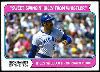 "Happy 80th Birthday to ""Sweet Swingin\ Billy from Whistler\""!!!! great & HOFer Billy Williams!"