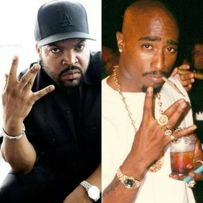 Happy birthday To a reall Legends Tupac Shakur and Ice cube