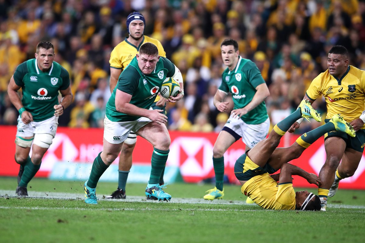 test Twitter Media - Ireland bounce back with a 21-26 victory in Melbourne to level the series at 1-1. Tadhg Furlong scored a decisive score in the second half for Joe Schmidt's men 👊 https://t.co/JdGRjF2Utj