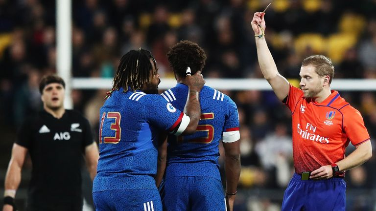 test Twitter Media - REPORT - A red card to France full-back Benjamin Fall after just 12 minutes proved decisive as New Zealand went on to beat Les Blues 26-13: https://t.co/wmgXMdFBb7 https://t.co/dweLswuOkZ