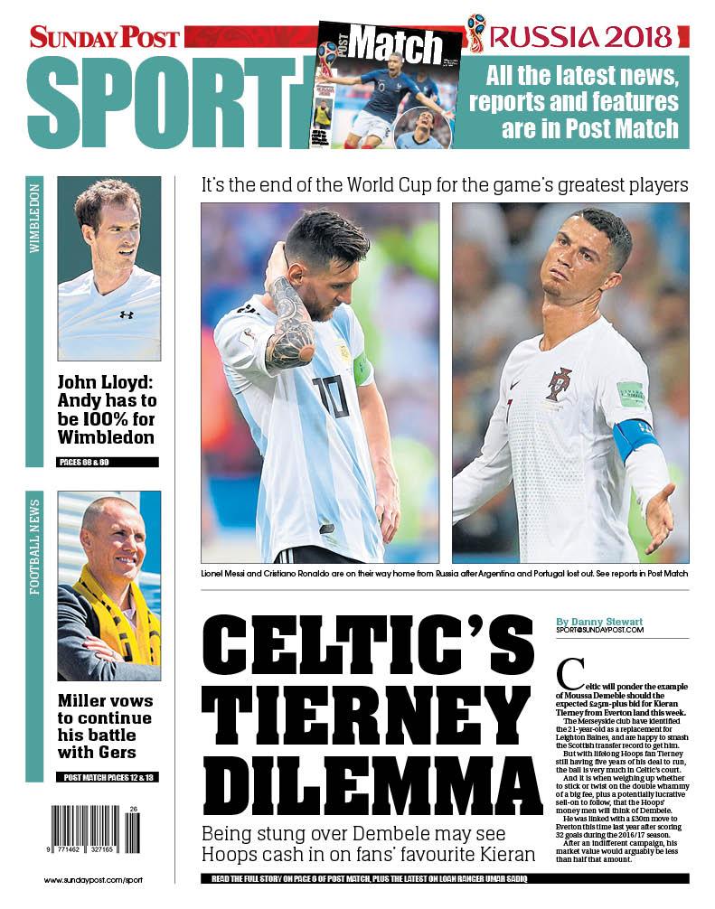 Sunday Post back page: Celtic's Tierney dilemma #tomorrowspaperstoday https://t.co/QrC5VyUNuK