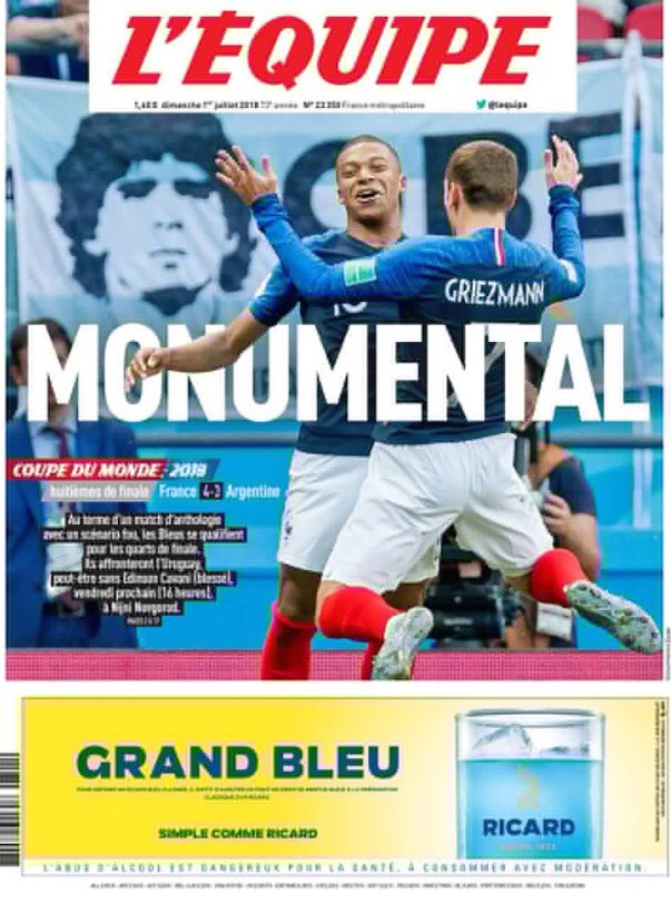 Sunday's L'Equipe #Tomorrowspaperstoday #skypapers https://t.co/xARy5kHdtv