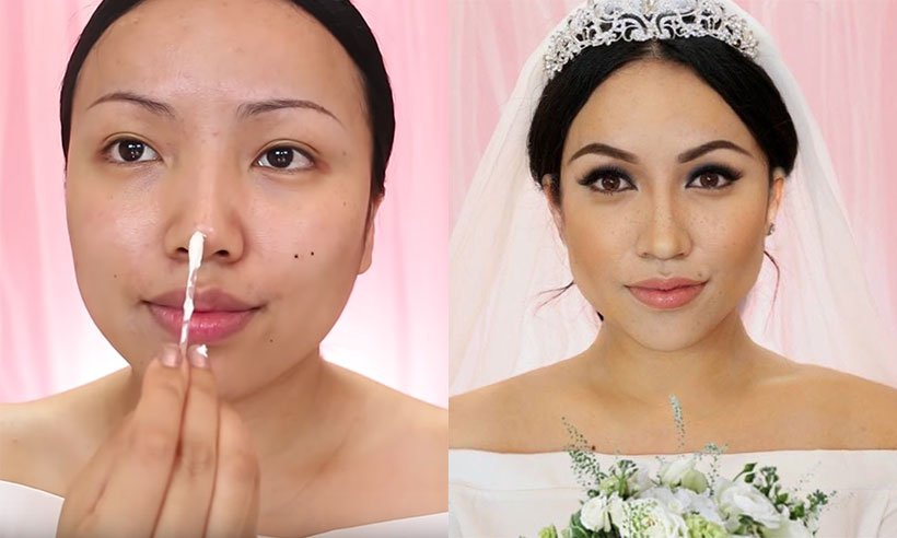 Beauty vlogger @TamangPhan just recreated Meghan Markle's wedding makeup look and WOW: