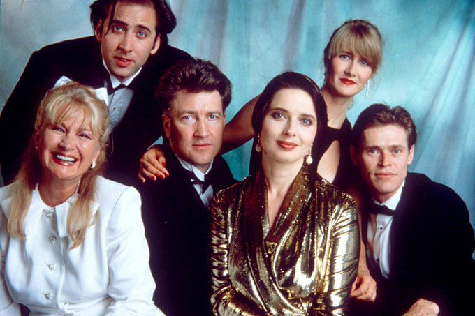 Happy birthday Isabella Rossellini, seen here with David Lynch and the cast of Wild at Heart!