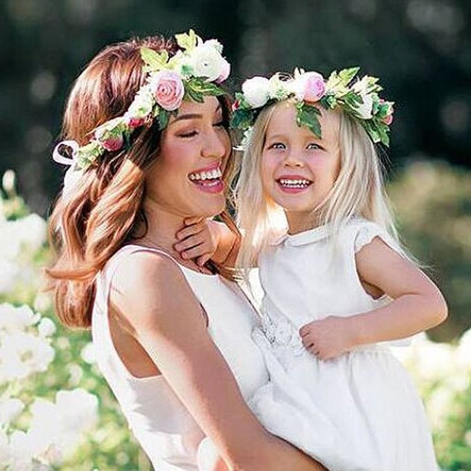 Floral headband - matching adult and child #toys #dresses #necklace #handbag #fashion #children https://t.co/oExUPimoEd