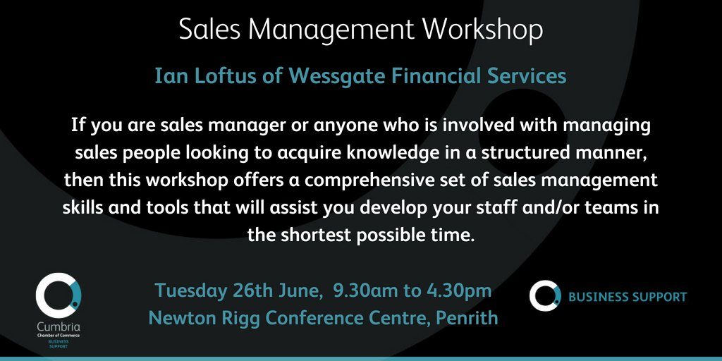 test Twitter Media - Sales Management workshop with Ian Loftus of Wessgate, 26th June – Newton Rigg, Penrith - more details & booking via https://t.co/ZRsqyPIWcA https://t.co/RmF5eAZXyY