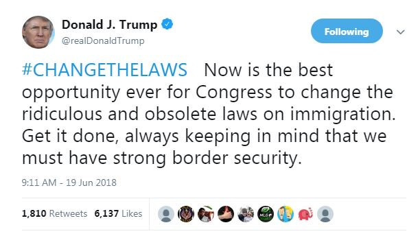 test Twitter Media - President @realDonaldTrump continues to both push for change to US immigration laws and keep strong border security. Calls the current US immigration laws ridiculous and obsolete. https://t.co/K8lERjr3jY