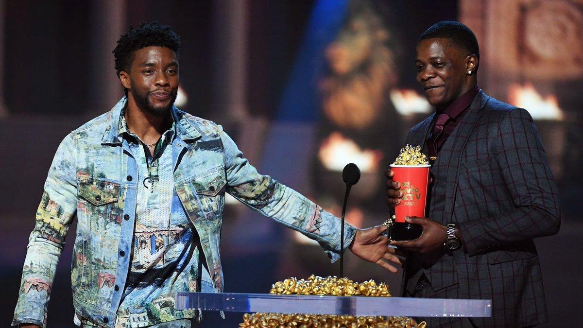 Chadwick Boseman Gave His Best Hero Award To Real-Life Hero James Shaw Jr.