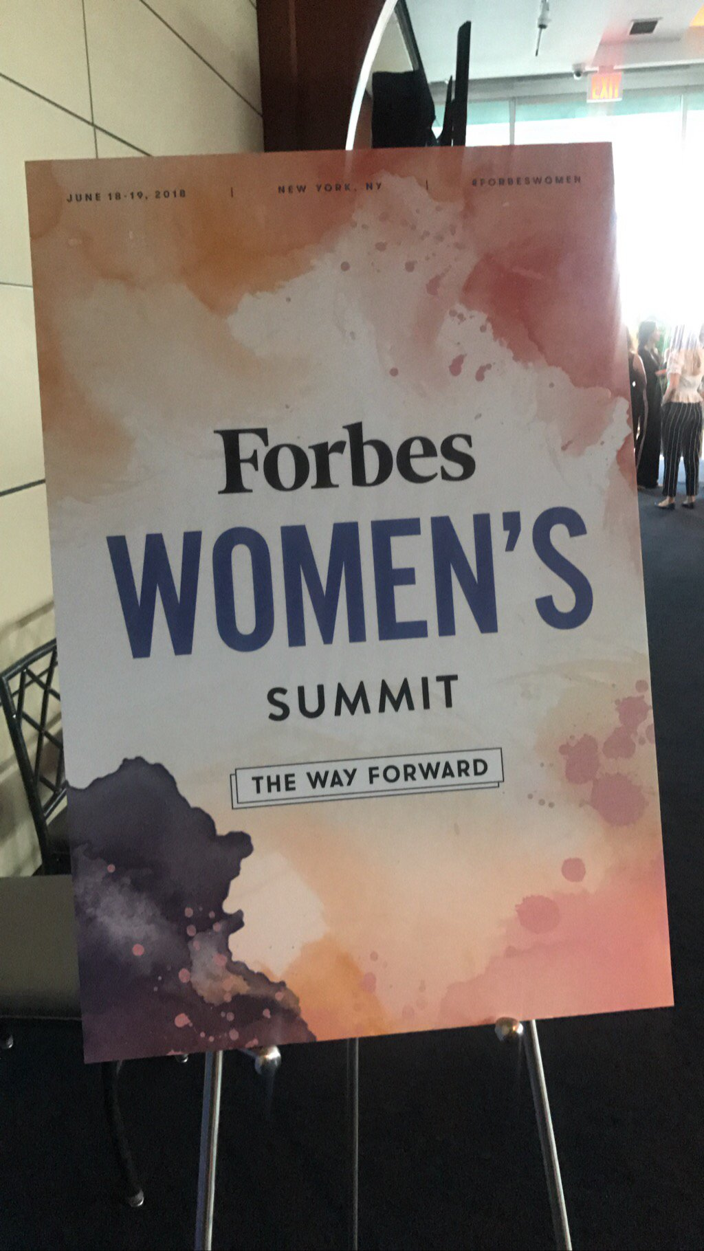 Getting ready to kickoff the 2018 Forbes Women's Summit! Follow along using #ForbesWomen https://t.co/J9HSjNrV8f