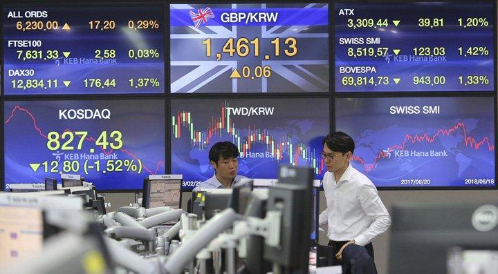 @BroadcastImagem: Bolsas da Ásia sofrem tombo com escalada de retórica comercial entre EUA e China. Ahn Young-joon/AP