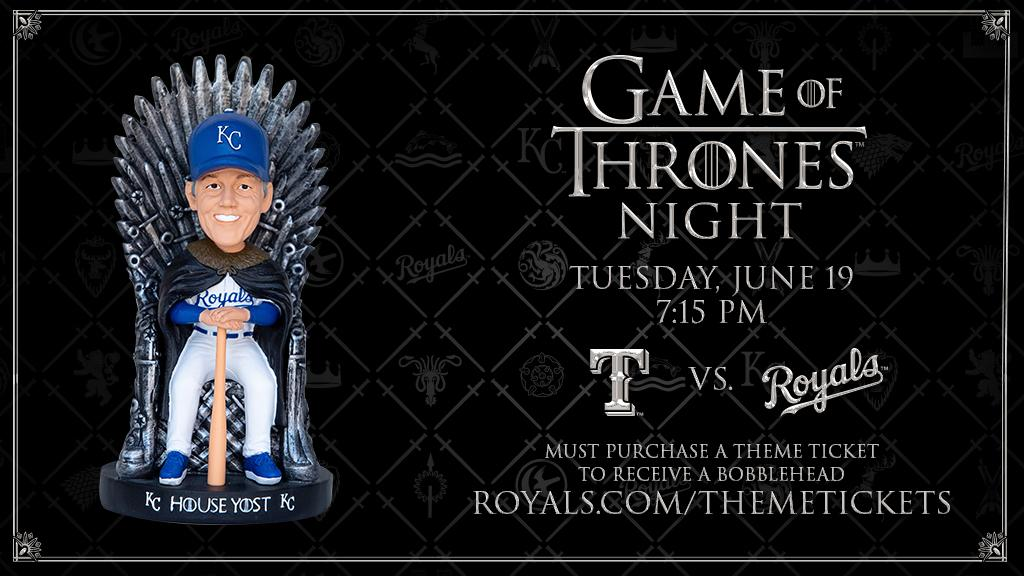test Twitter Media - Get a House Yost Iron Throne bobblehead tonight with your Theme Ticket. https://t.co/rBm9GhbVO4 #GoTMLB https://t.co/bX0lgfrwaF