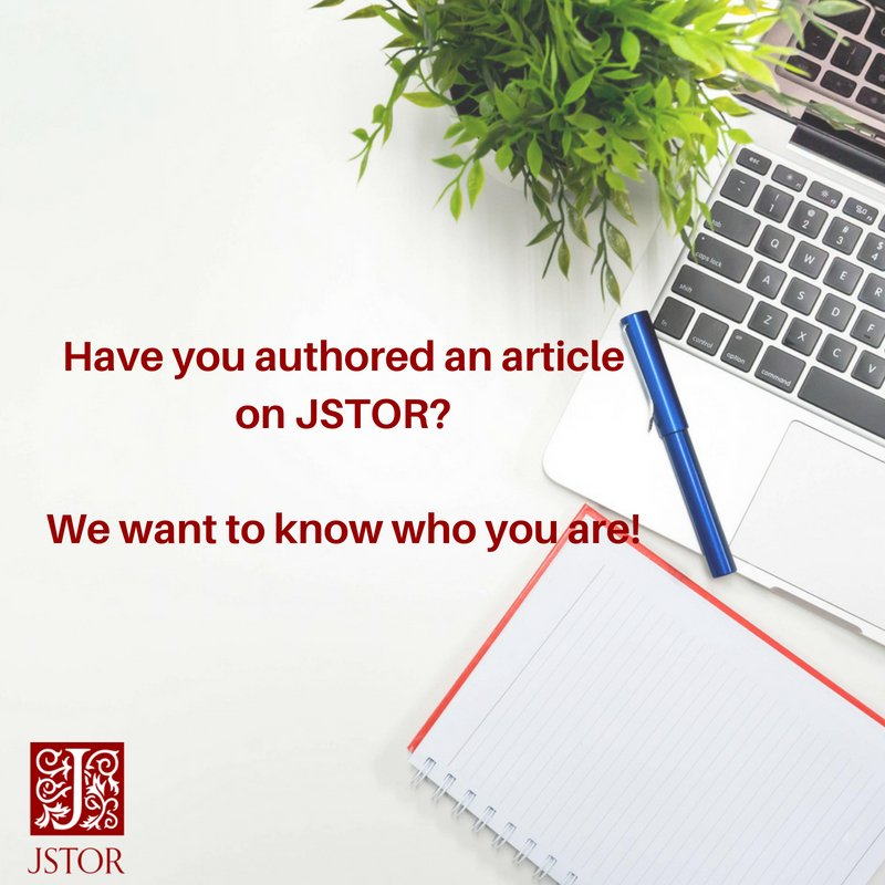 test Twitter Media - Have you authored an article that's on JSTOR? We want to know who you are! Send us a link and we'll promote your work and add you to our #AuthorsOnJSTOR list! https://t.co/ikvMeP6BaG