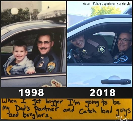 Father's Day inspires Washington officer to recreate police photo with son 20 years later https://t.co/HqhV0jftS9 https://t.co/28qF5mrWYU