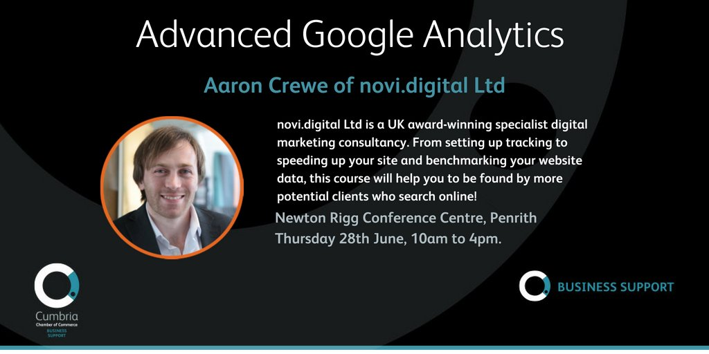 test Twitter Media - Advanced Google Analytics – with Aaron Crewe of @novidigital – Newton Rigg, Penrith – 28th June - more info & booking at https://t.co/XSnJc5p5Da https://t.co/YZ3CddLHMi
